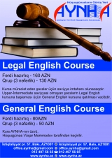 """Legal English Language Course""- Hüquqi İngilis dili üzrə kurs"